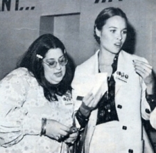Cass & Michelle Phillips at a McGovern fundraiser, 1972