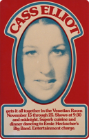 Poster for Venetian Room appearance, 1973