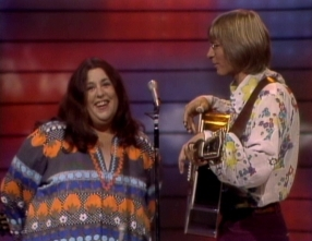 With John Denver on Burt Sugarman's The Midnight Special, 1972